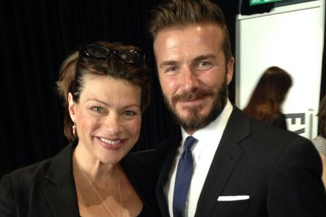 Kate Silverton with David Beckham