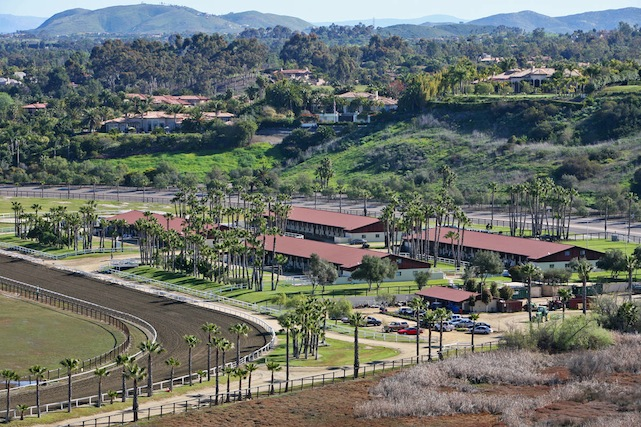 aerial of ranch stables