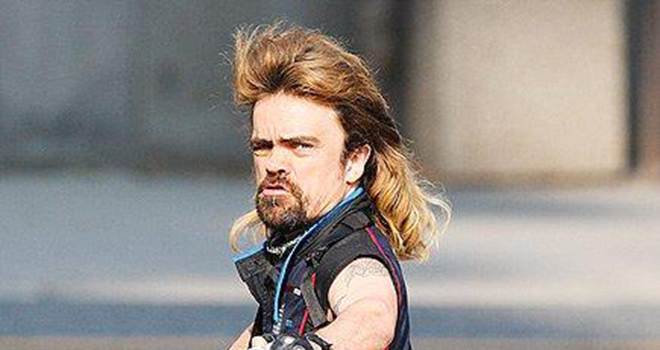 PeterDinklageMullet 660 Peter Dinklage With a Mullet and Bazooka: Life Complete (PHOTOS)