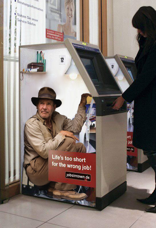 indiana jones fridge pose photoshop battle, indiana jones atm