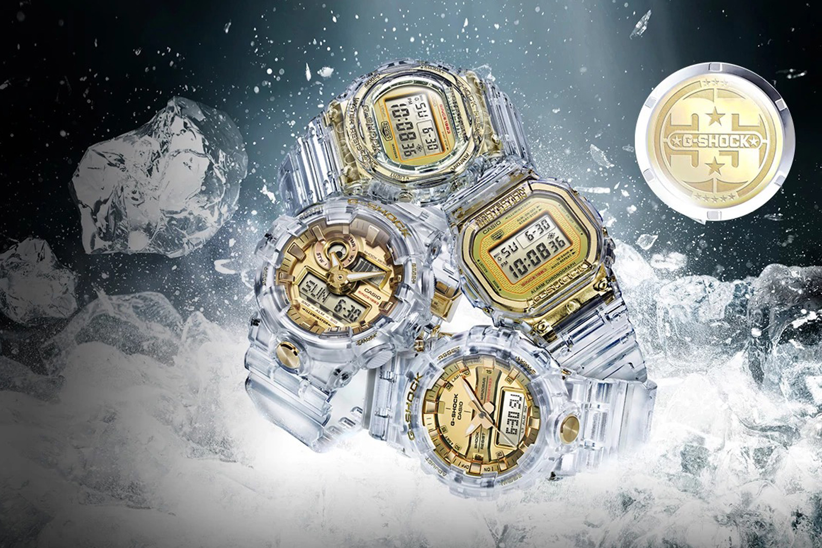 Casio's see-through G-Shock watches are an icy blast of nostalgia