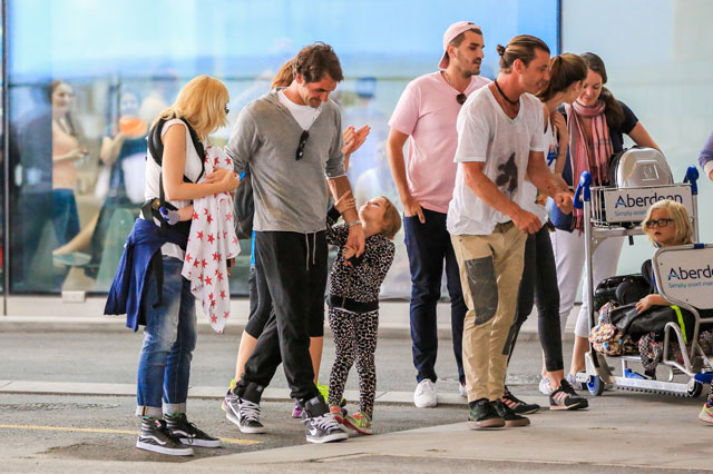 Roger Federer, Mirka and their twins holiday with Gwen Stefani's family