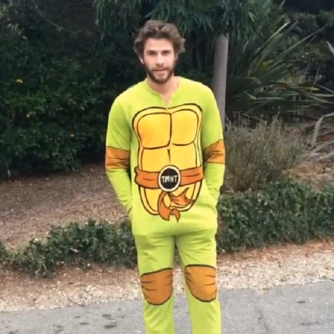 Liam Hemsworth Ninja Turtles onesie