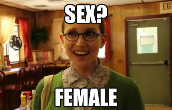 Sexually Oblivious Female is Your Immature Meme of the Day
