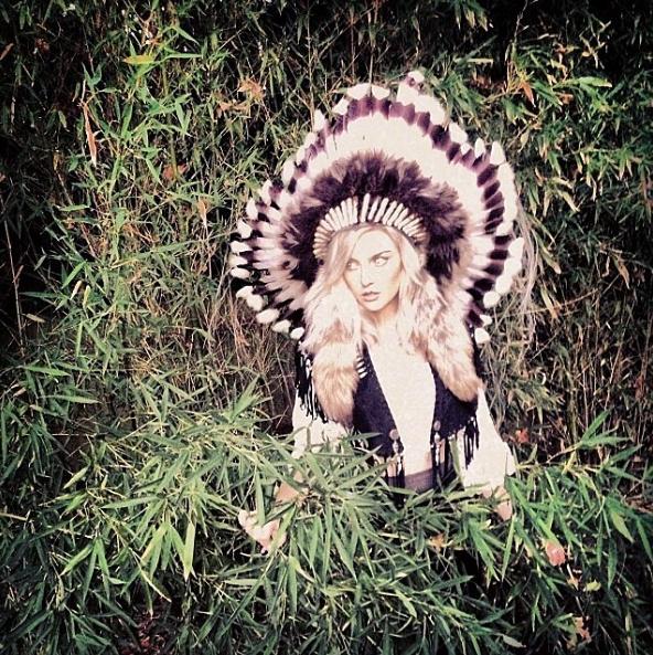 Perrie Edwards racist native american headdress pics