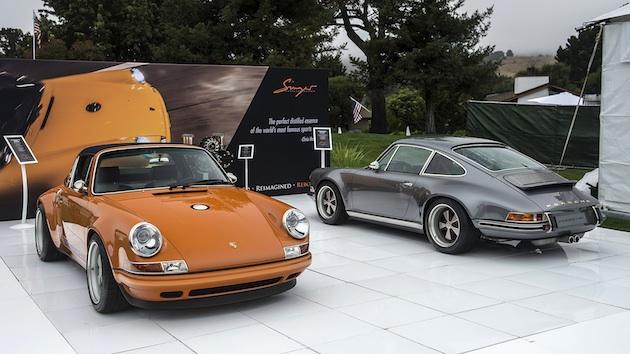 シンガー社によって再創造された魅力的な2台のクラシック・ポルシェ「911」が、モントレーに登場