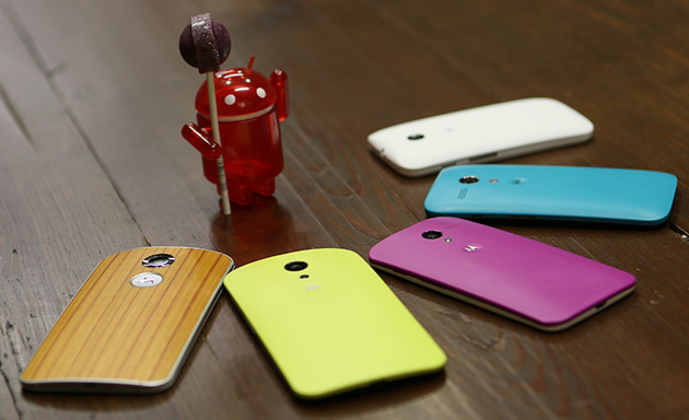 Motorola's examples of phones getting Android 5.0 Lollipop