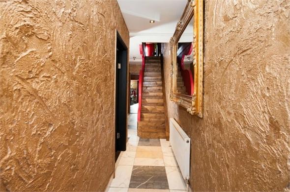 The gold hallway.