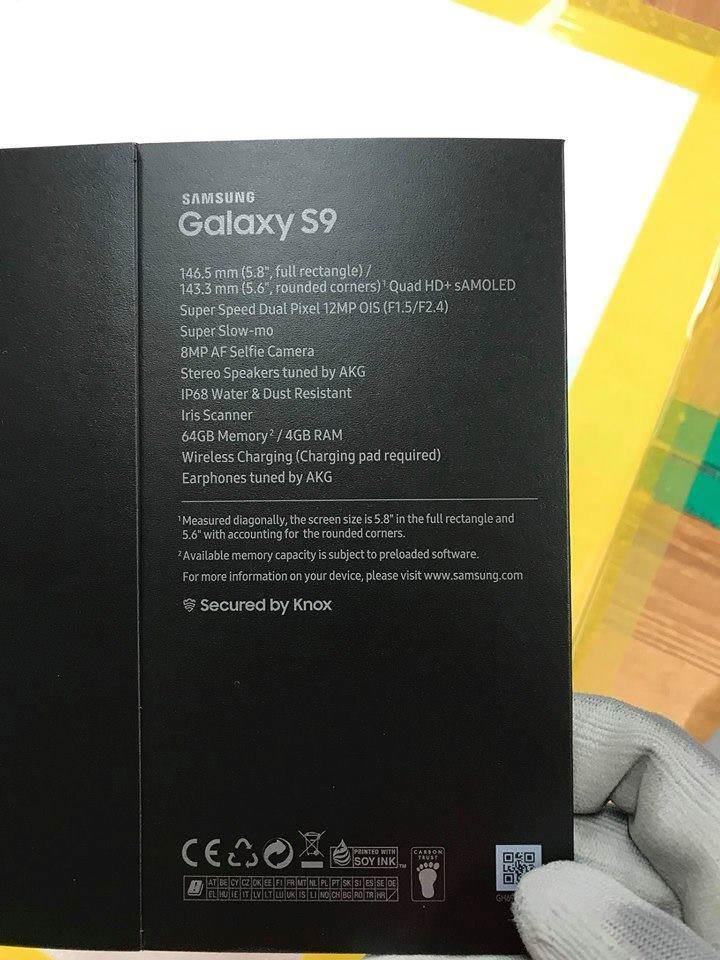 Leak: Karton vom Galaxy S9 aufgetaucht