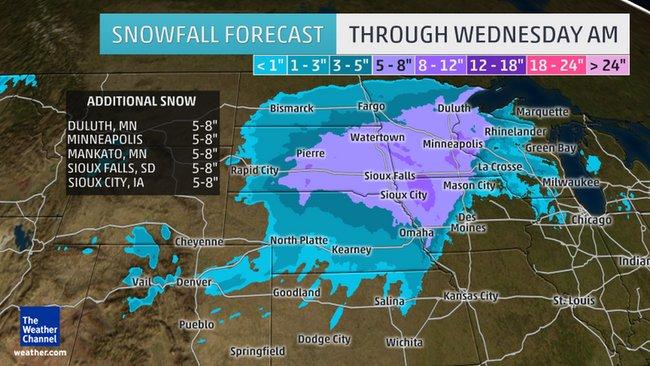 Winter Storm Delphi Snow Forecast