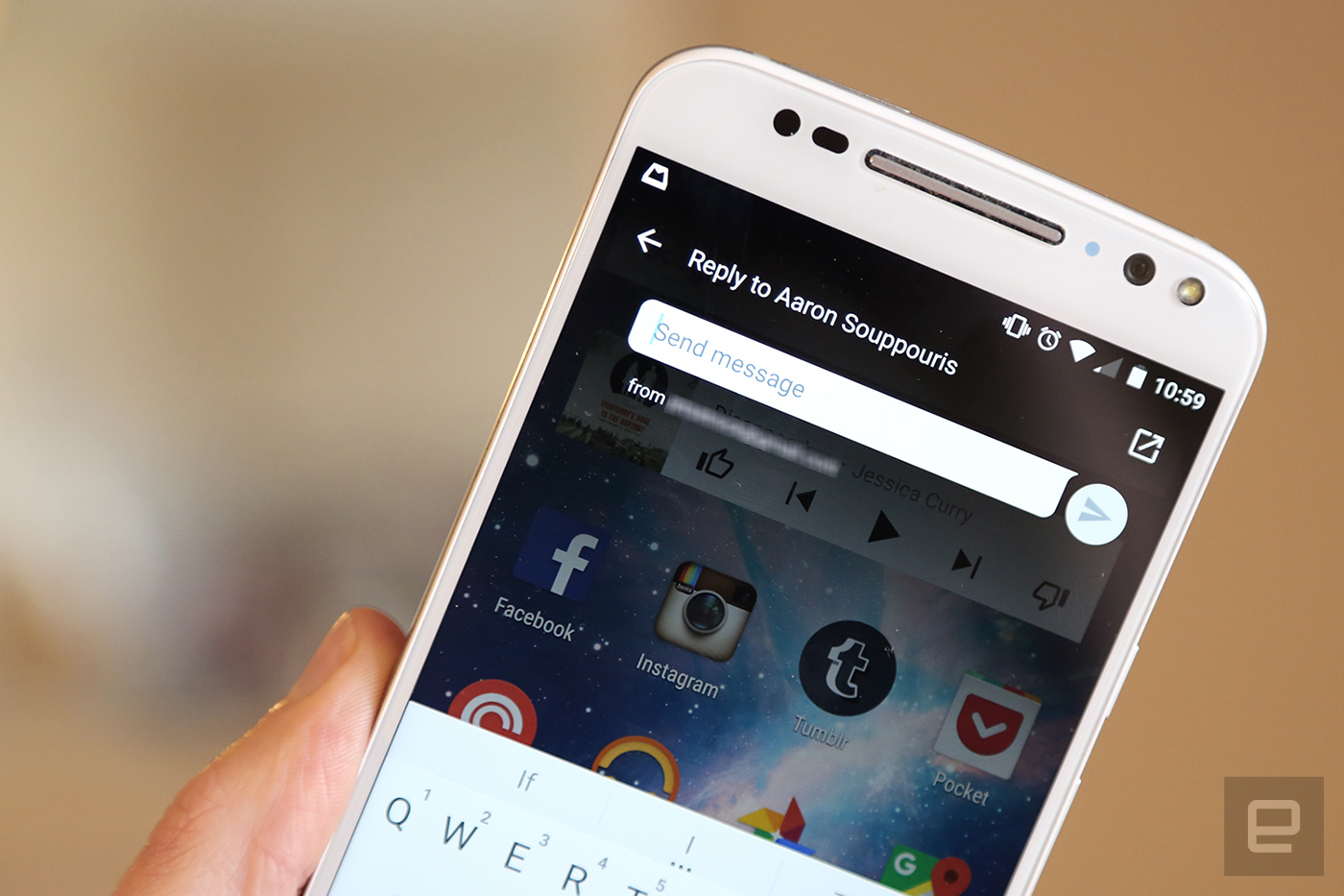 Google Hangouts for Android update adds quick replies