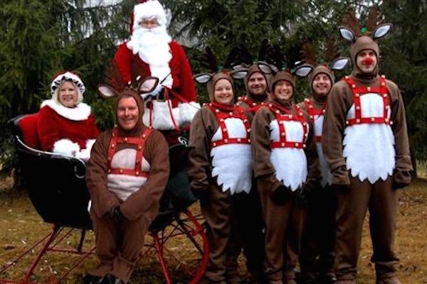 funny christmas cards, funny christmas photos, reindeer outfits christmas