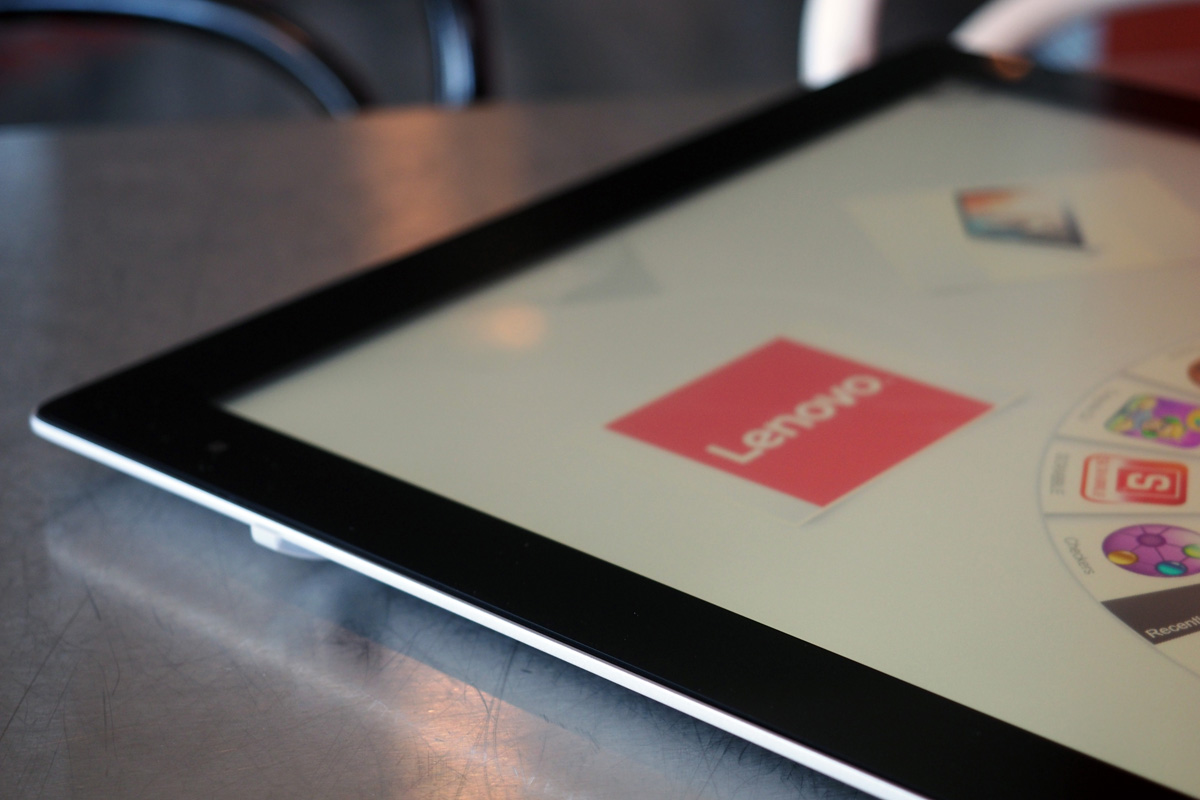 Lenovo's 27-inch tablet is still heavy, but comes with more useful apps