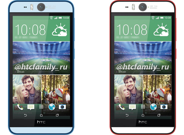 HTC Desire Eye in blue and red