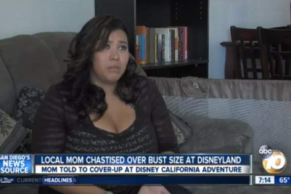 Mum on family holiday told to 'cover cleavage' at Disneyland resort