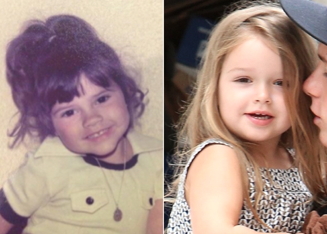 Victoria Beckham looks just like Harper in throwback childhood photo