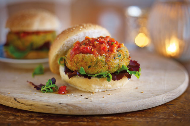 Cheddar, bean and spinach burgers recipe