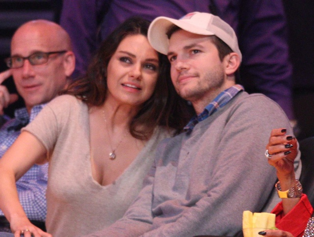Are Mila and Ashton married? Mila flashes 'wedding band' at basketball game