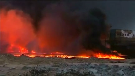 Retreating IS thugs set fire to Iraq's oil wells