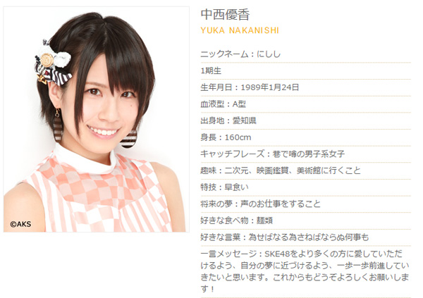 SKE48中西優香、卒業目前に公開したブログがファンの間で「泣ける」と話題に