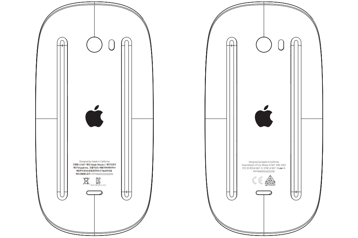 Apple's Magic Mouse 2 at the FCC