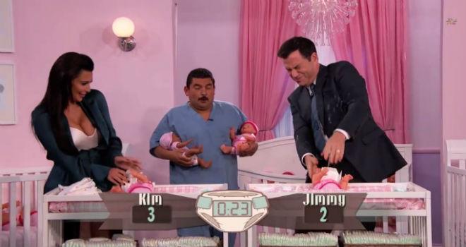 Kim Kardashian, Jimmy Kimmel, diaper changing contest, baby