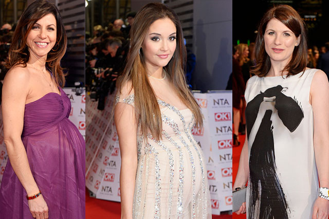 Pregnant Julia Bradbury, Jacqueline Jossa and Jodie Whittaker are glam at the National Television Awards