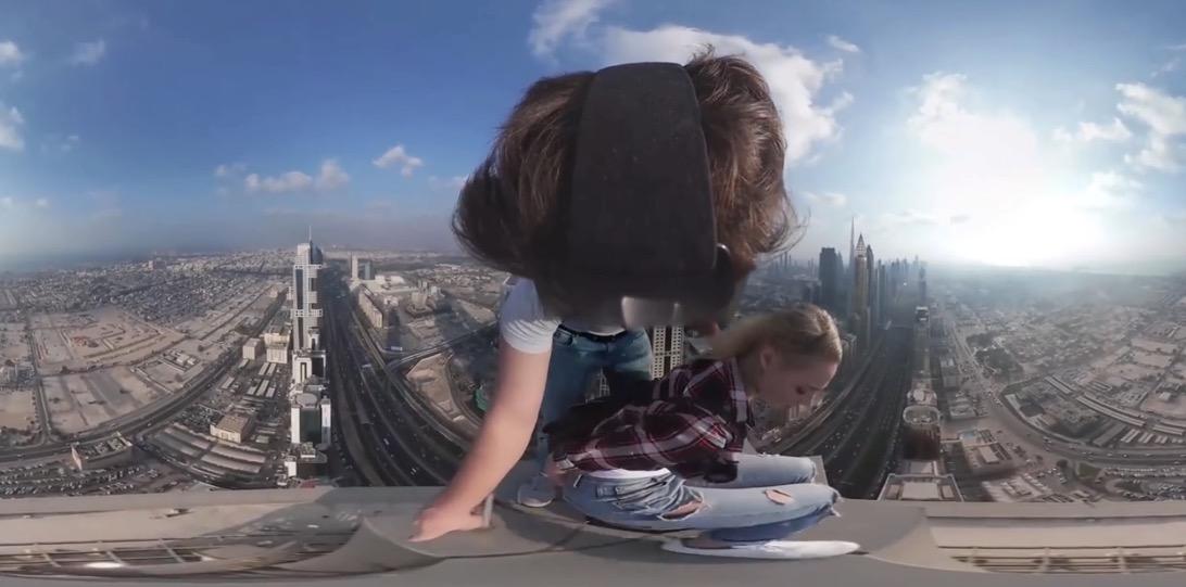 360-Grad-Video: Kletterausflug auf die Hochhausspitze (285 Meter)