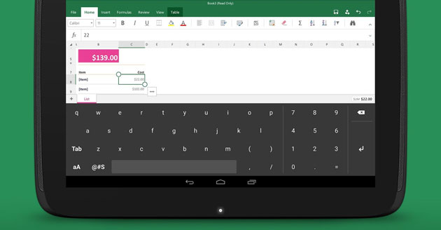 Microsoft made an Android keyboard especially for Excel