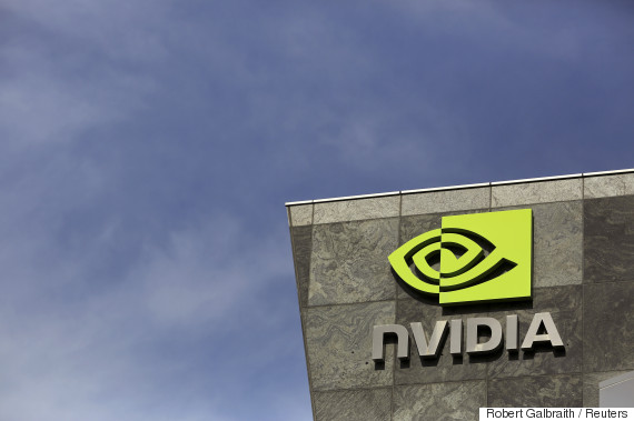 The logo of technology company Nvidia is seen at its headquarters in Santa Clara, California February 11, 2015. Nvidia Corp on Wednesday posted higher quarterly results that beat Wall Street expectations, sending its shares higher as the graphics chipmaker sought to sharpen its focus on high-end automobiles. Nvidia is trying to expand its graphics technology beyond the sluggish personal computer industry with its Tegra line of chips for mobile devices and increasingly for cars. REUTERS/Robert Galbraith  (UNITED STATES - Tags: SCIENCE TECHNOLOGY BUSINESS LOGO)
