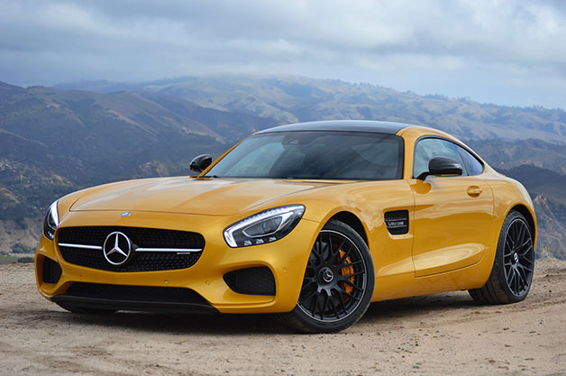 The 2016 Mercedes AMG GT S, front three-quarter view.