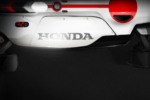 ホンダ、フランクフルト・モーターショーで公開の二輪エンジン搭載コンセプトマシンをチラ見せ!