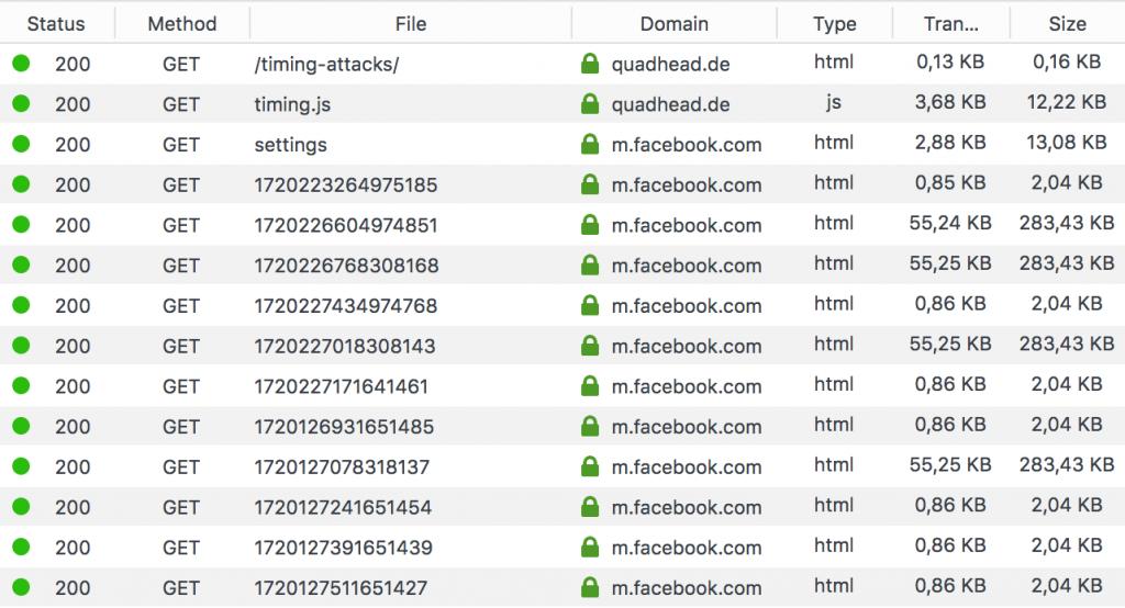 Screenshot des Browser-Hacks