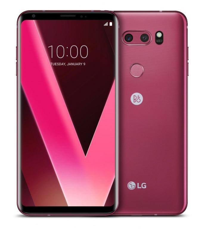 LG lanzará en el CES 2018 un V30 en atractivo color frambuesa