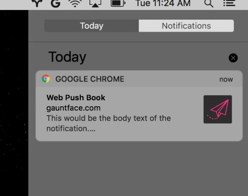 New Google Chrome notifications on macOS