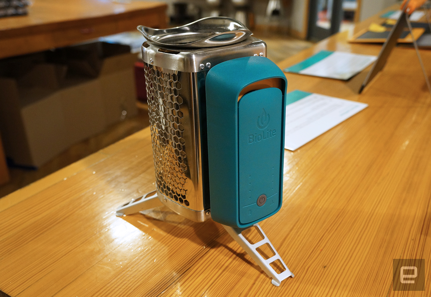 BioLite's latest gear includes a stove, lamp and a pair of solar panels