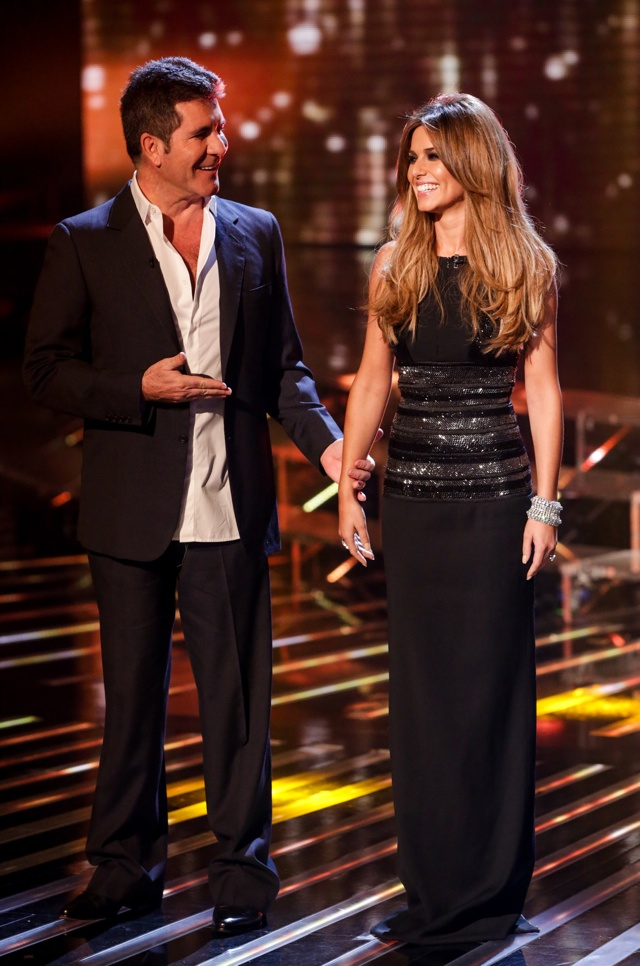 Simon Cowell and Cheryl Fernandez-Versini: Embargo until 7:45 P.M. 11th October