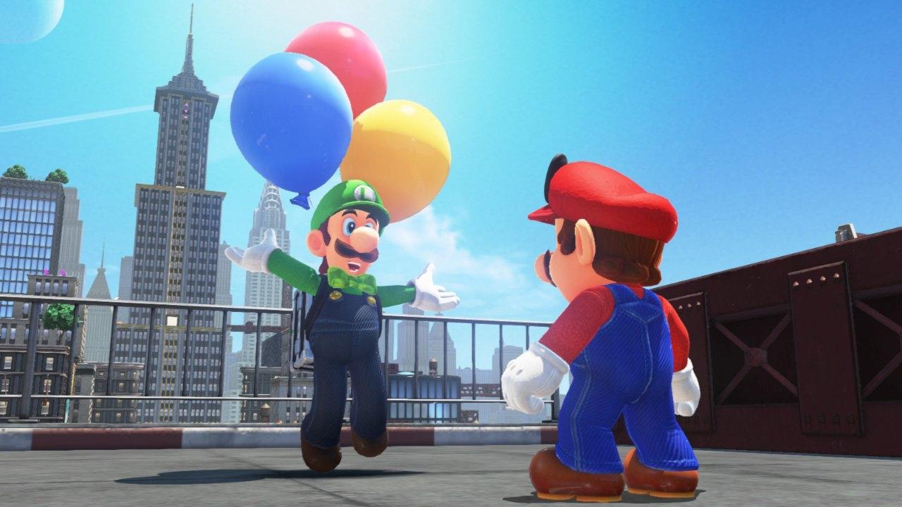 Luigi y sus retos con globos llegan a Super Mario Odyssey