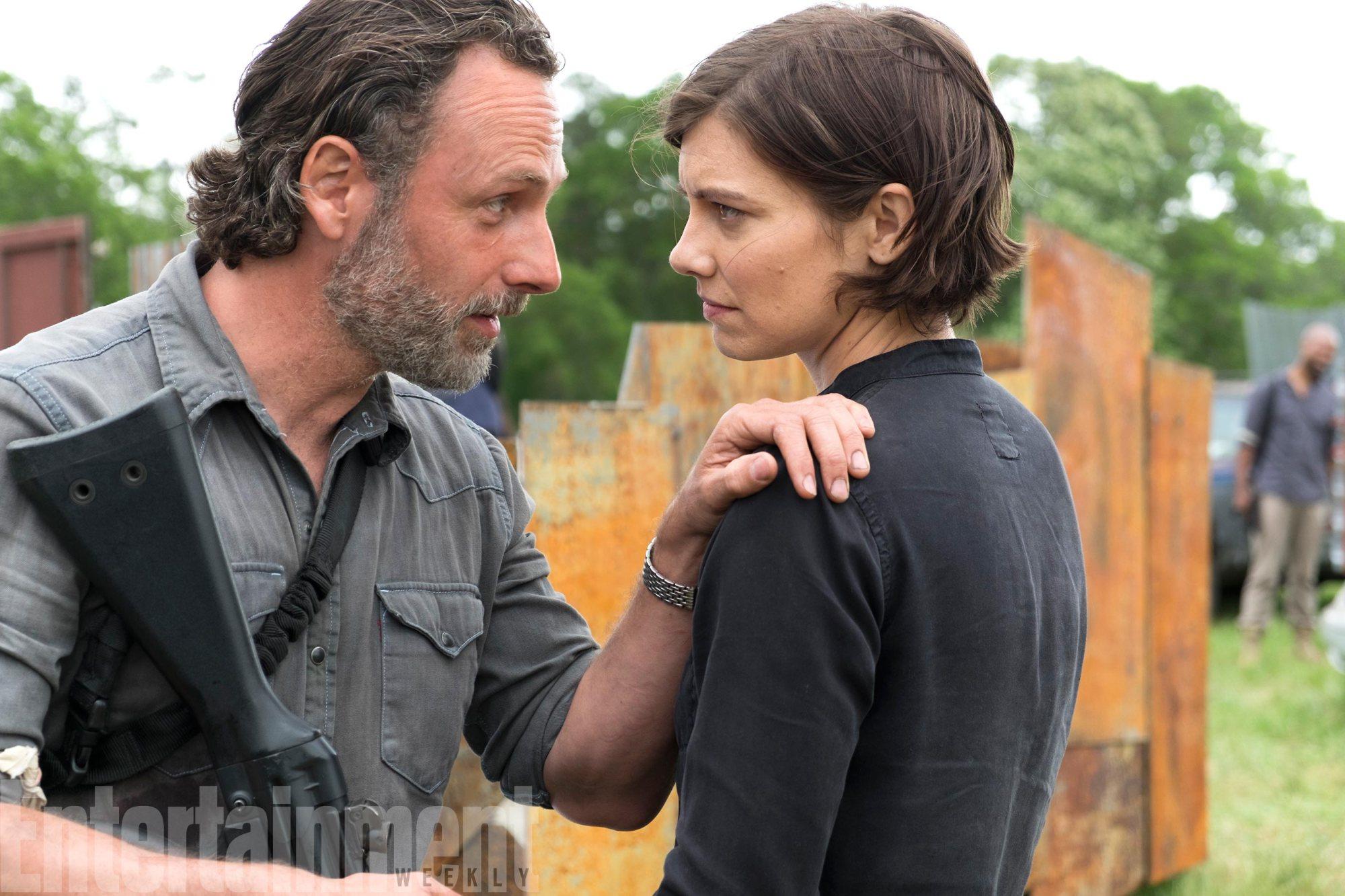 The Walking DeadSeason 8, Episode 1Andrew Lincoln as Rick Grimes, Lauren Cohan as Maggie GreeneÂ
