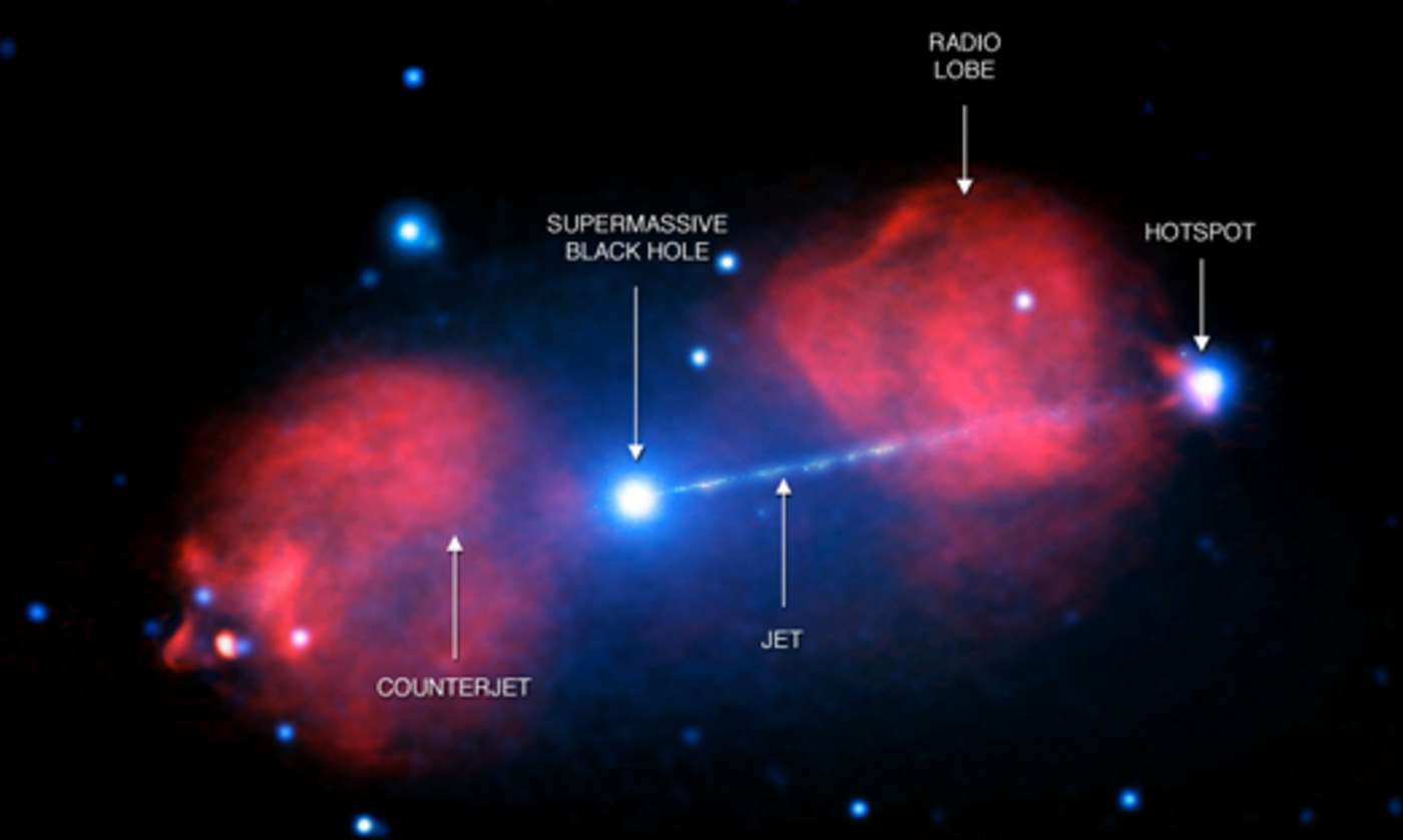 A supermassive black hole is shooting X-rays across galaxies