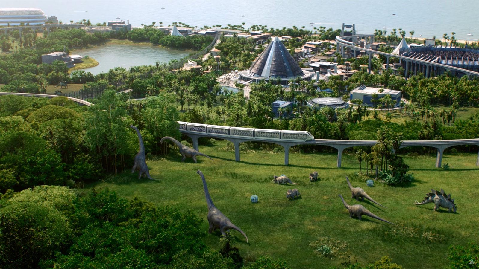 Build your own dinosaur park in 'Jurassic World Evolution'