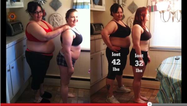 100日間で34キロの減量に成功した母娘 親子愛に「尊敬する」「泣けた!」と称賛の声
