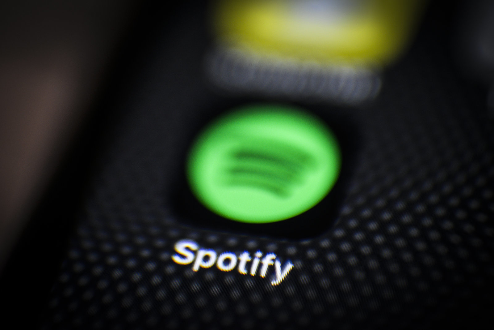 The Spotify applications is seen on an iPhone in this photo illustration on June 18, 2018. (Photo by Jaap Arriens/NurPhoto via Getty Images)