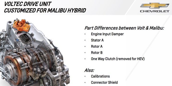 2016 Chevy Malibu Hybrid drive unit