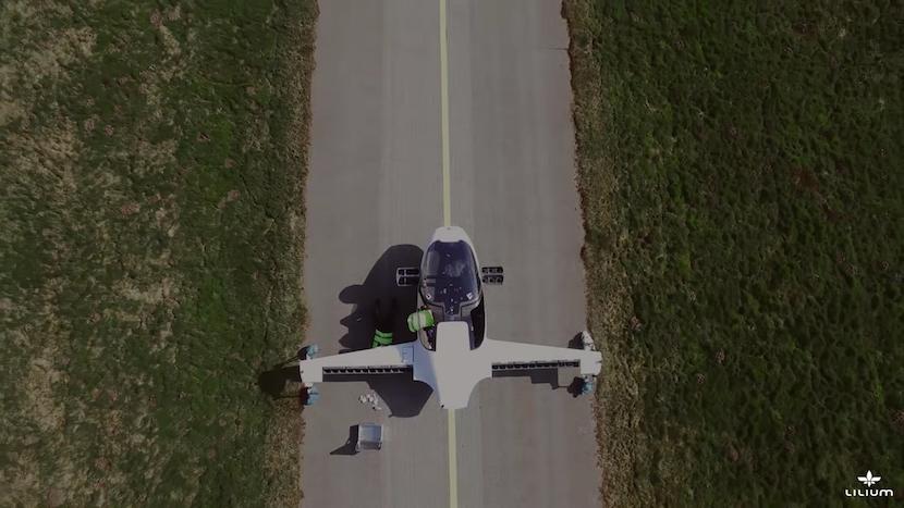 Lilium: Neuartige Flugkapsel im Testflug