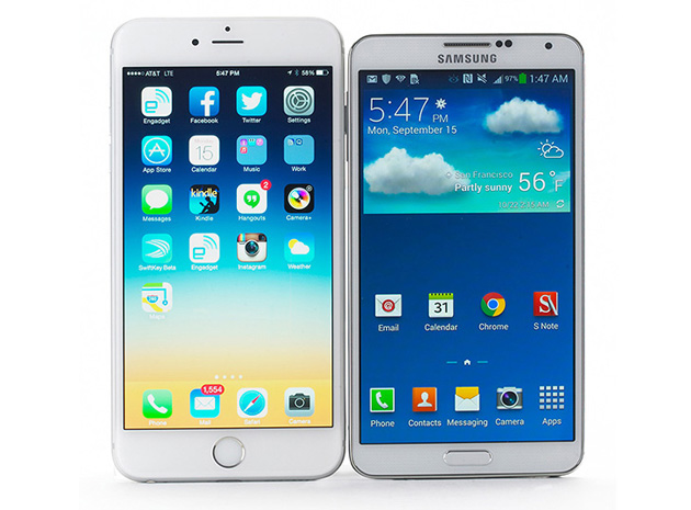 iPhone 6 and Galaxy Note 3