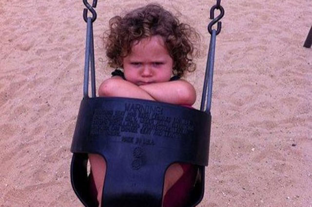 How a photo of a grumpy toddler went viral