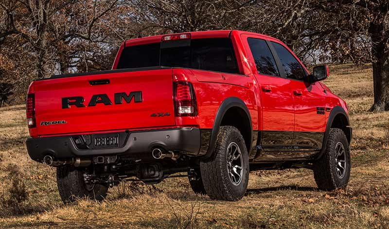 2015 Ram 1500 Rebel - rear three-quarter view