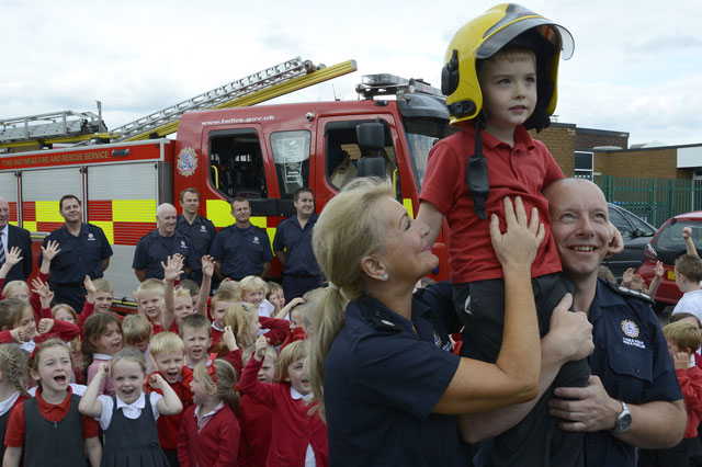 Boy, 4, saves his school from fire