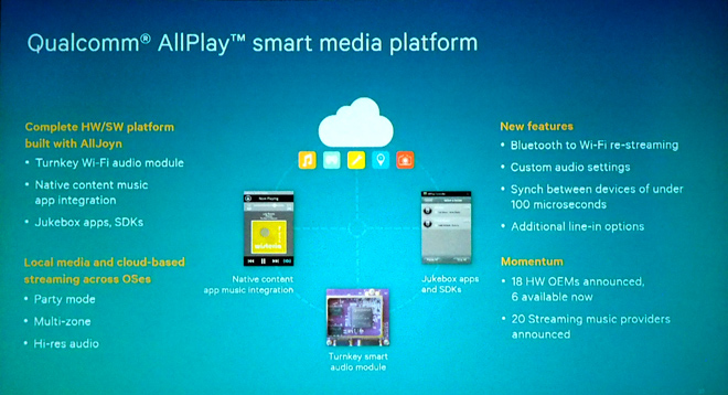 Qualcomm brings Bluetooth support to AllPlay audio streaming